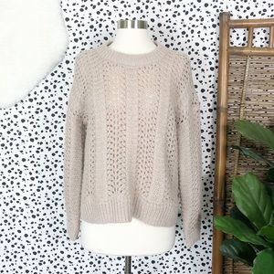 Madewell | Windmere Pointelle Pullover Sweater S